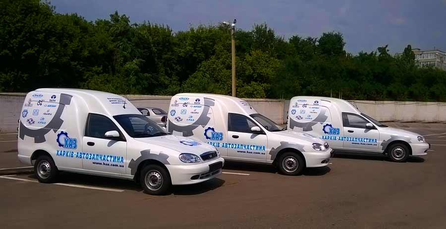 Брендирование автотранспорта компании ХАЗ