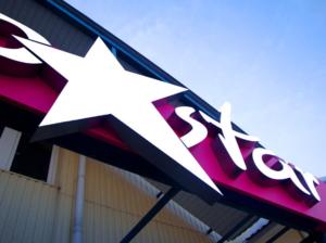 объемные световые буквы. сеть магазинов KosmoStar