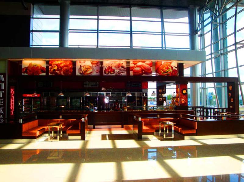 оформление экстерьера кафе Кулиничи. Аэропорт