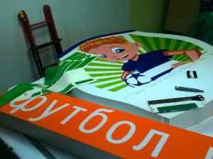 изготовить световой логотип футбольного клуба