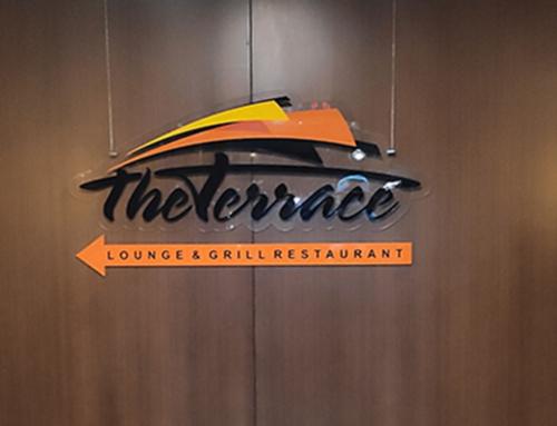 Вывеска для ресторана The Terrace